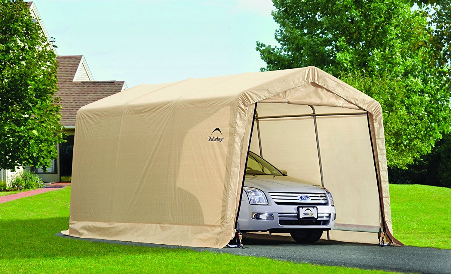 Metal Car Shelter 10x20 : Feet new auto shelter and portable garage