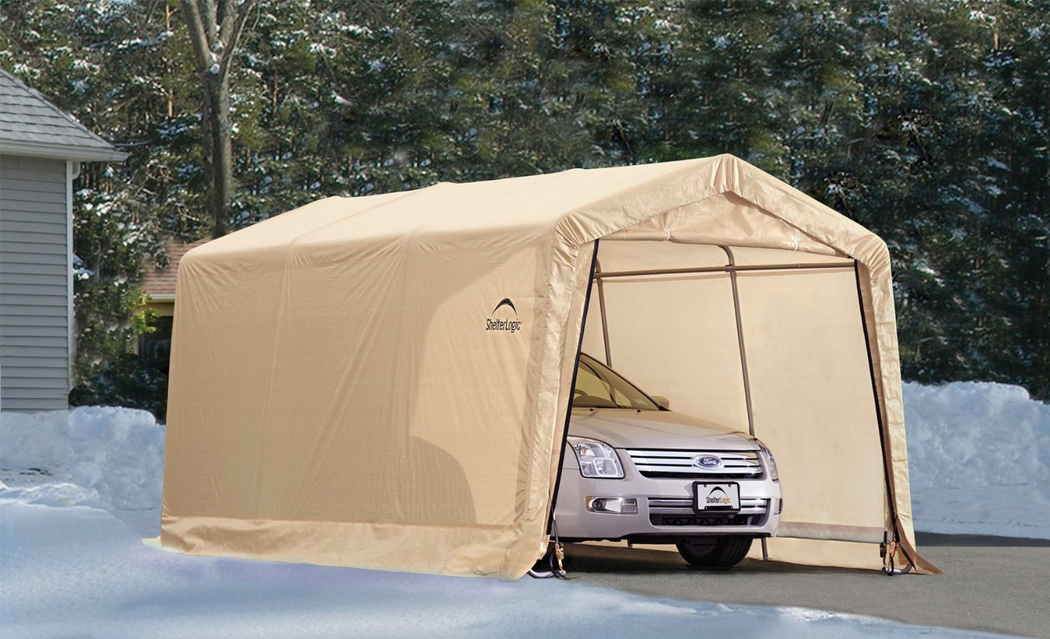 Vehicle Storage Shelter : Feet new auto shelter and portable garage