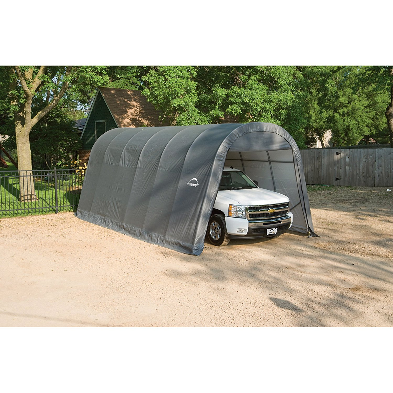 12-Ft.W Round-Style Instant Garage at Lowest price in Market