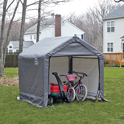Enclosed Motorcycle Shelter : Enclosed shelterlogic shed in a box canopy storage