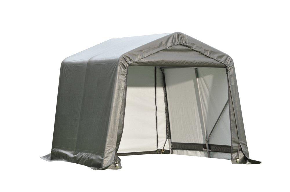 Storage Shelter Frame : Ft peak frame all weather storage shed and