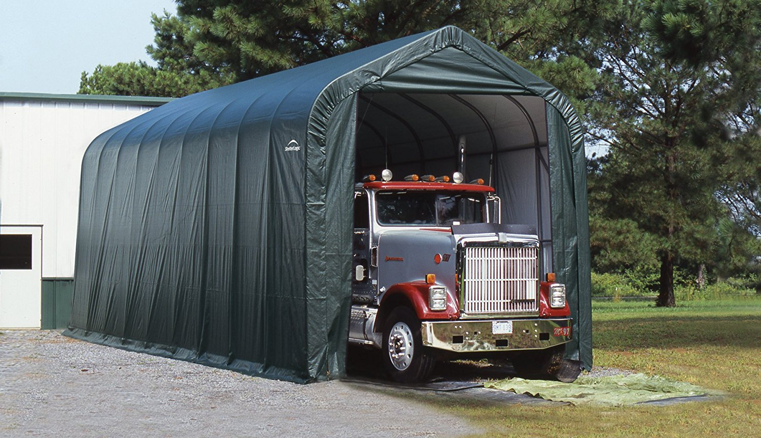 Storage Buildings Shelter : Ft l w h large peak style garage and