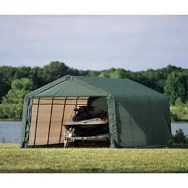 12x28x10 Peak Style Portable Shelter and Garage For Cars ...