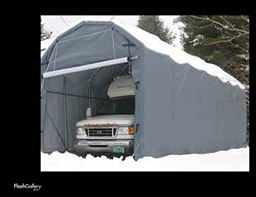 Instant Garage Auto Storage Shelter : Barn style wx lx h portable rv and camper garage