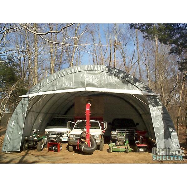 Rhino Shelter 3 Car Round shelter & Garage 30x30x15 ...
