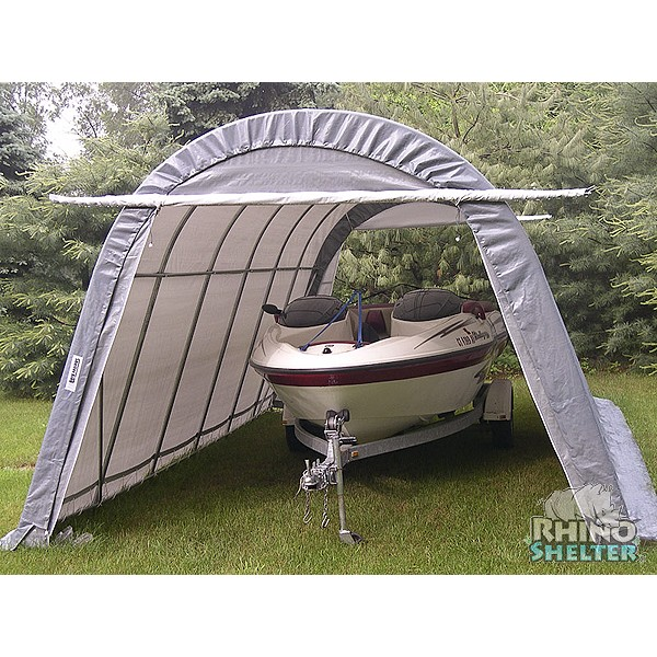 Instant Portable Shelters : Instant garage round style portable shelter
