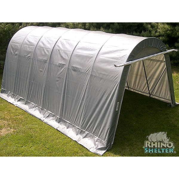 Instant Round Top Shelter : Instant garage round style portable shelter