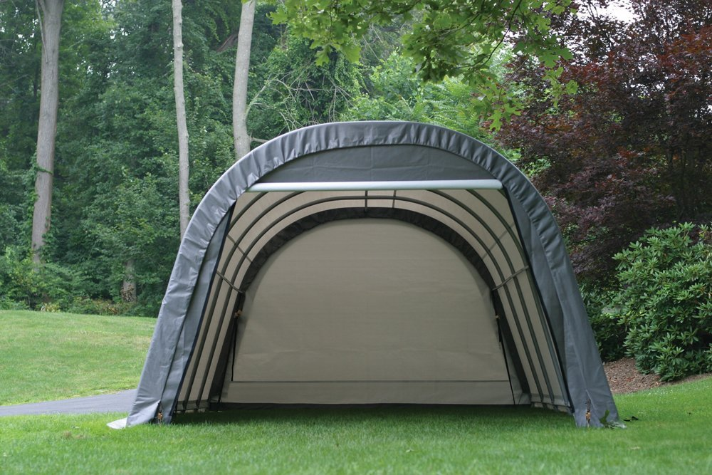 Round-Style Instant Garage and Portable Shelter Available in Different Sizes