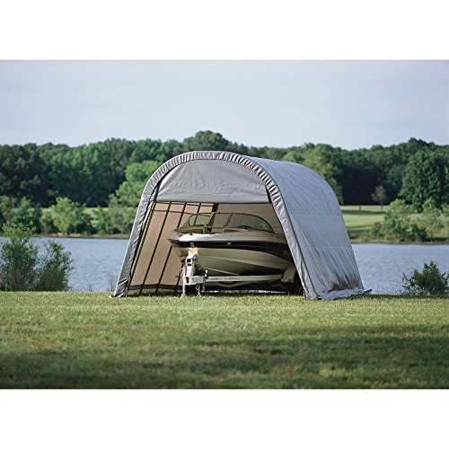 Instant Vehicle Storage Shelter : Round style instant garage and portable shelter for car
