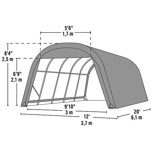 Round Portable Single Car Garage : Round style instant garage and portable shelter for car