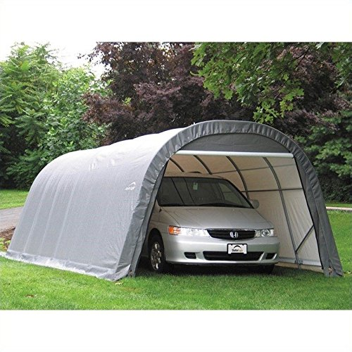 Portable Instant Shelters : Round style instant garage and shelters available in