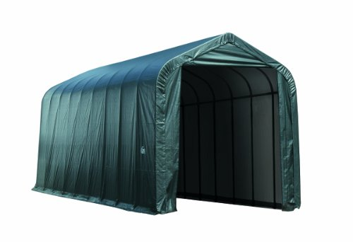 14'x36'x16′ Peak Style Shelter and Garage for RV and Campers
